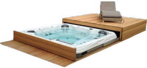 Roll-deck spa en zwemspa cover systeem