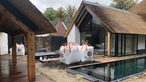 Plaatsing van een spa in een put in Udenhout