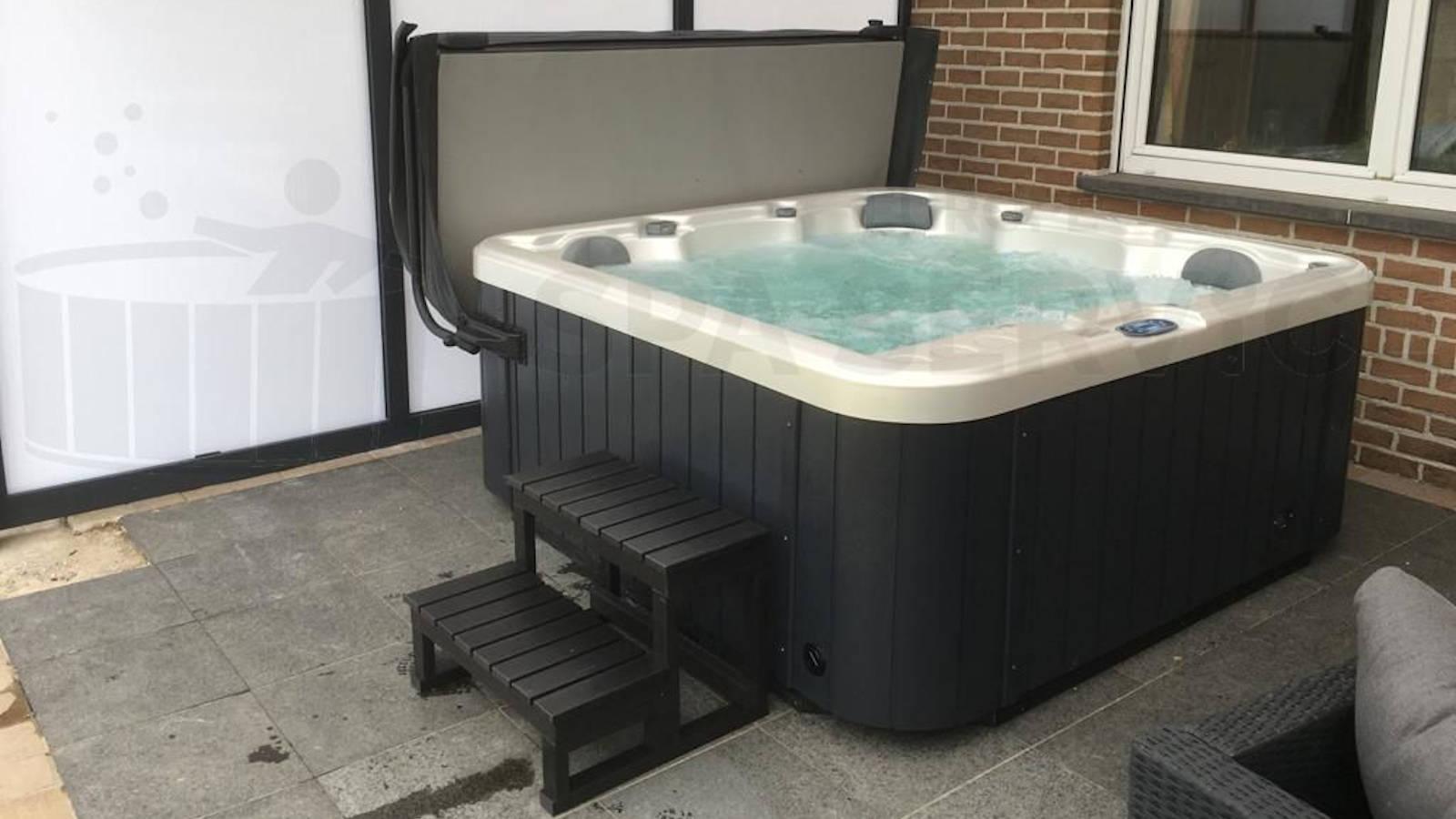 Plaatsing van een spa in Oosterzele België