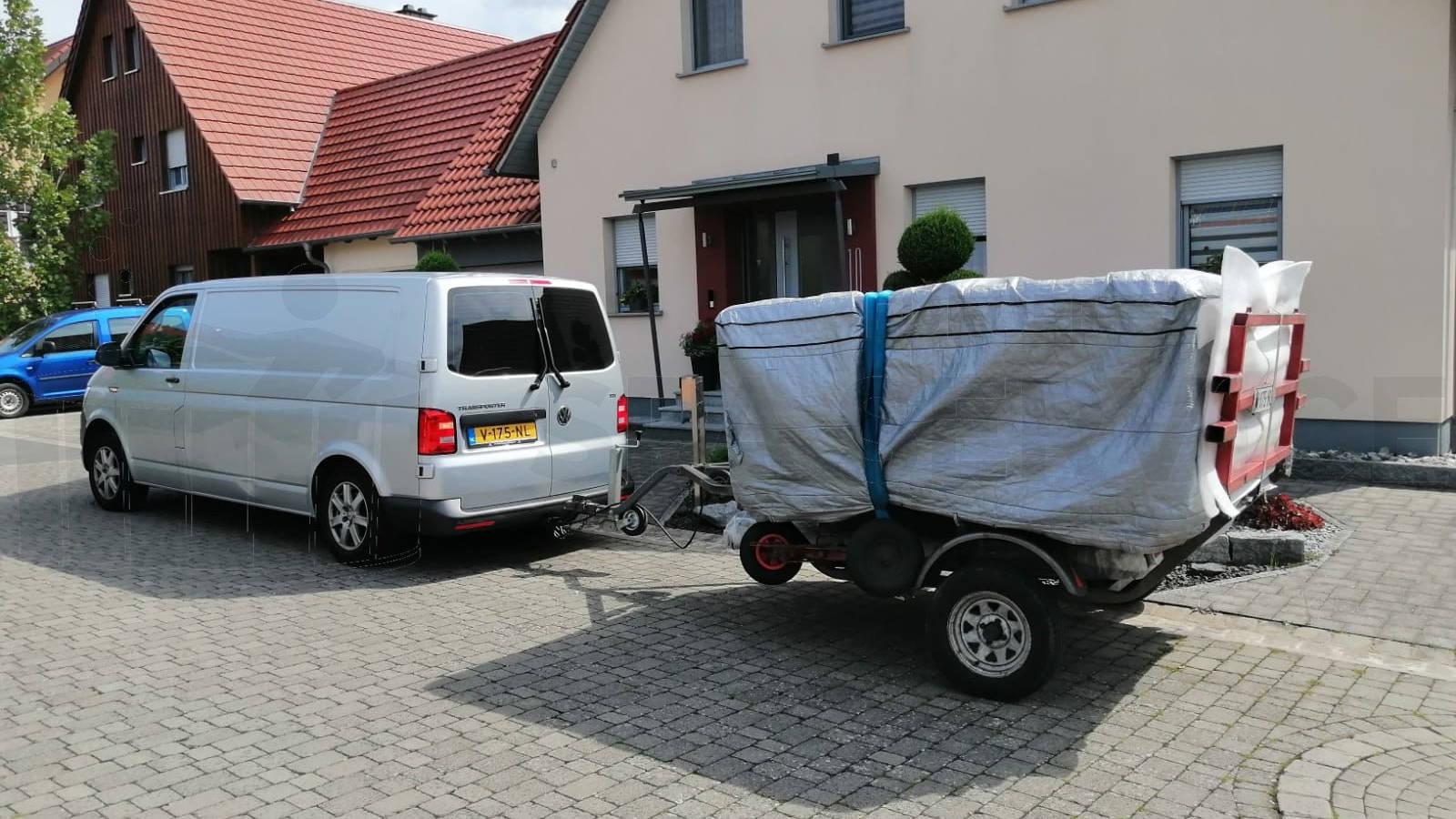 Plaatsing van een spa in Sommerach Duitsland