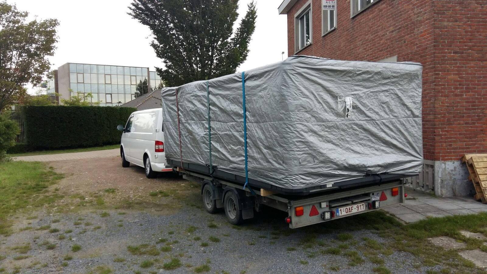 Plaatsing en installatie Allseas Excercise pool / zwemspa in Oostende België