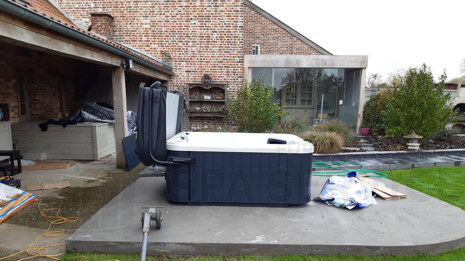 Plaatsing van een spa in Herne België