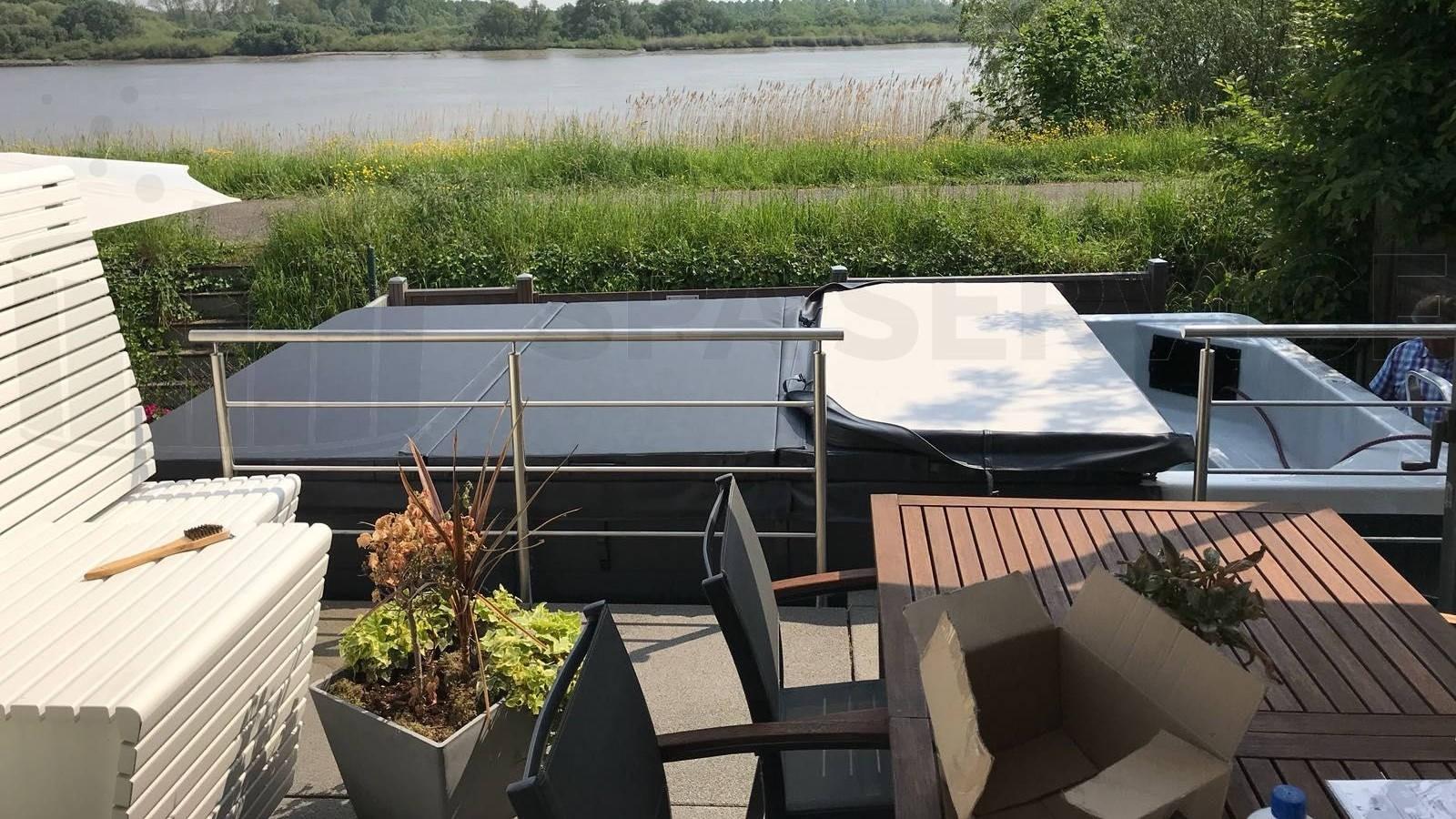 Plaatsing Allseas Exercise Pool 46 zwemspa in Steendorp België