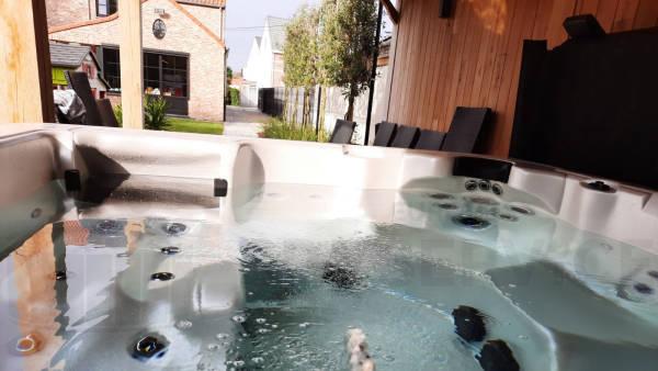 Plaatsing van een spa in Dendermonde België