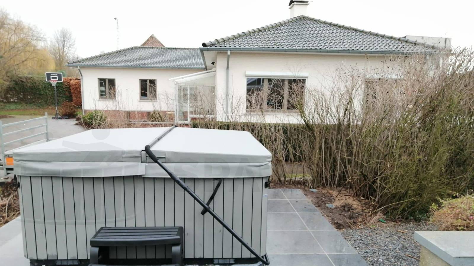 Plaatsing van een spa in Bilzen België