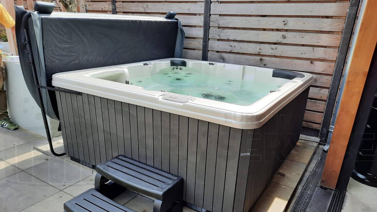 Plaatsing van een spa in Wijchen