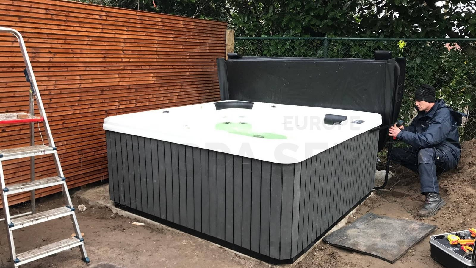 Plaatsing van een spa in Boxtel