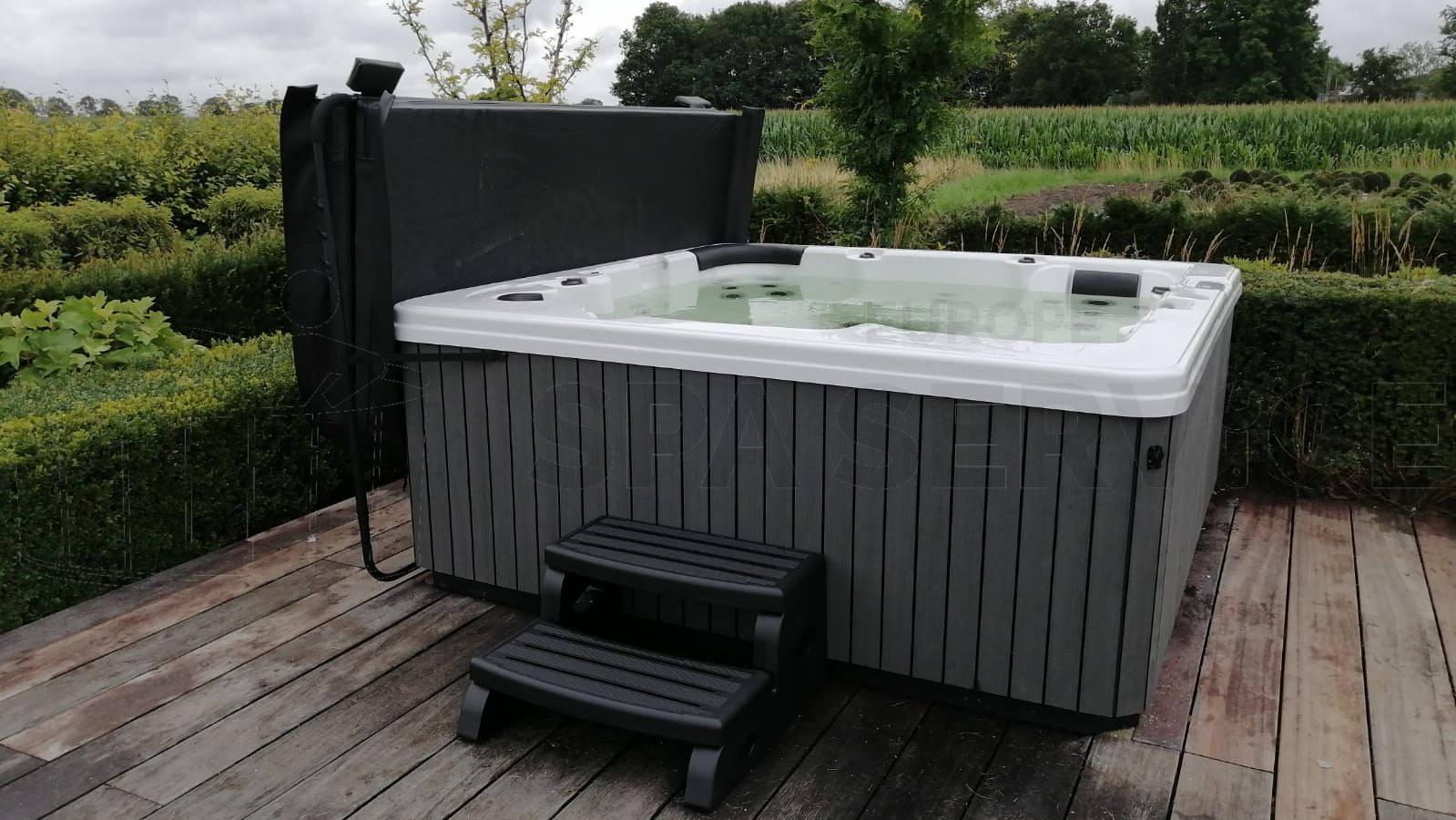 Plaatsing van een spa in Diessen