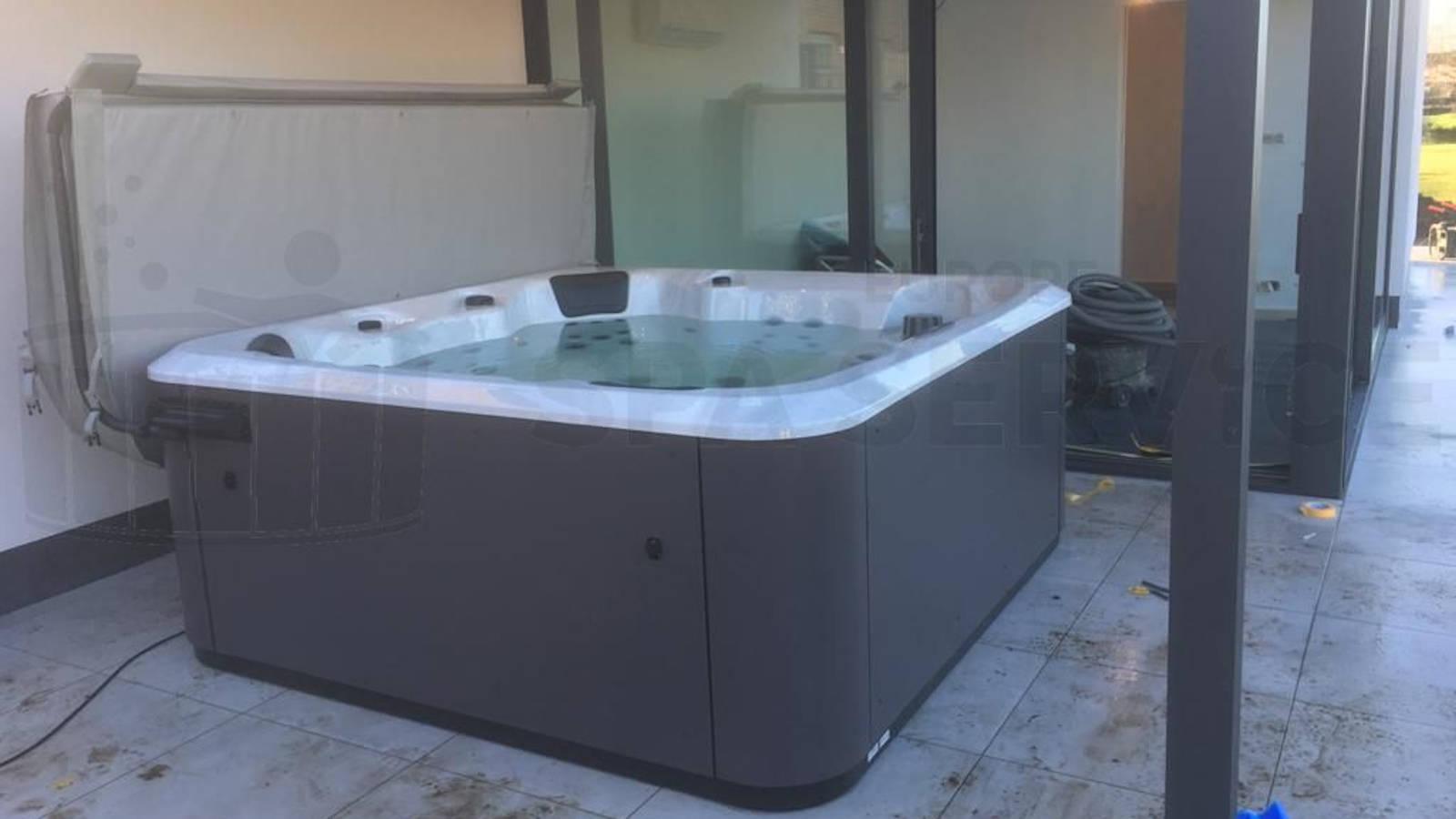 Plaatsing van een spa in Londerzeel België