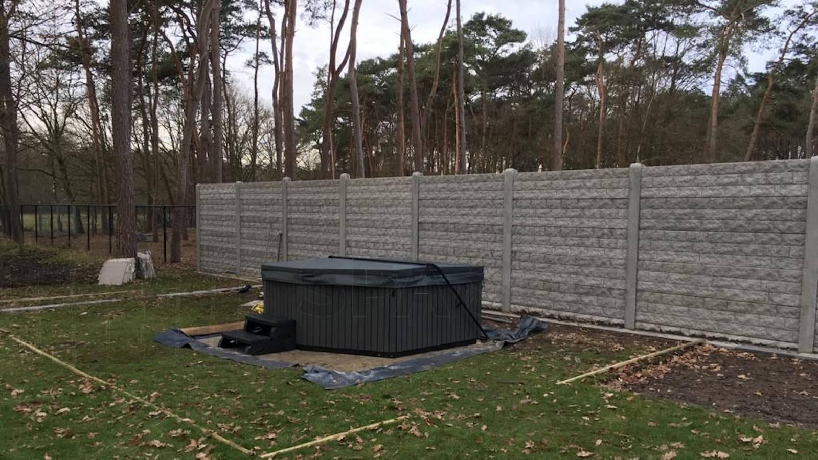 Plaatsing van een spa in Houthalen-Helchteren België