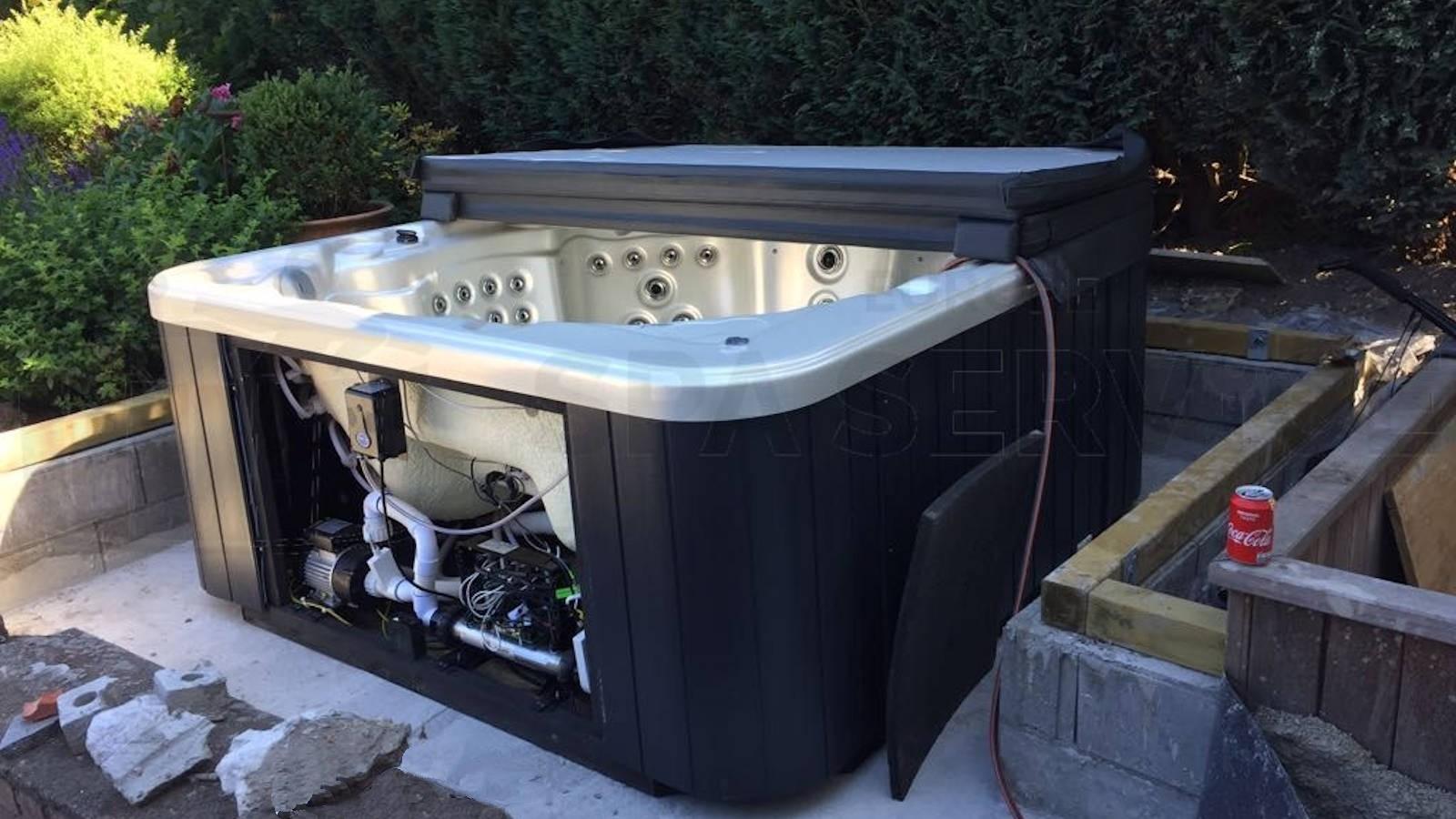 Plaatsing Allseas Oasis SL-5601 spa in Fleurus België