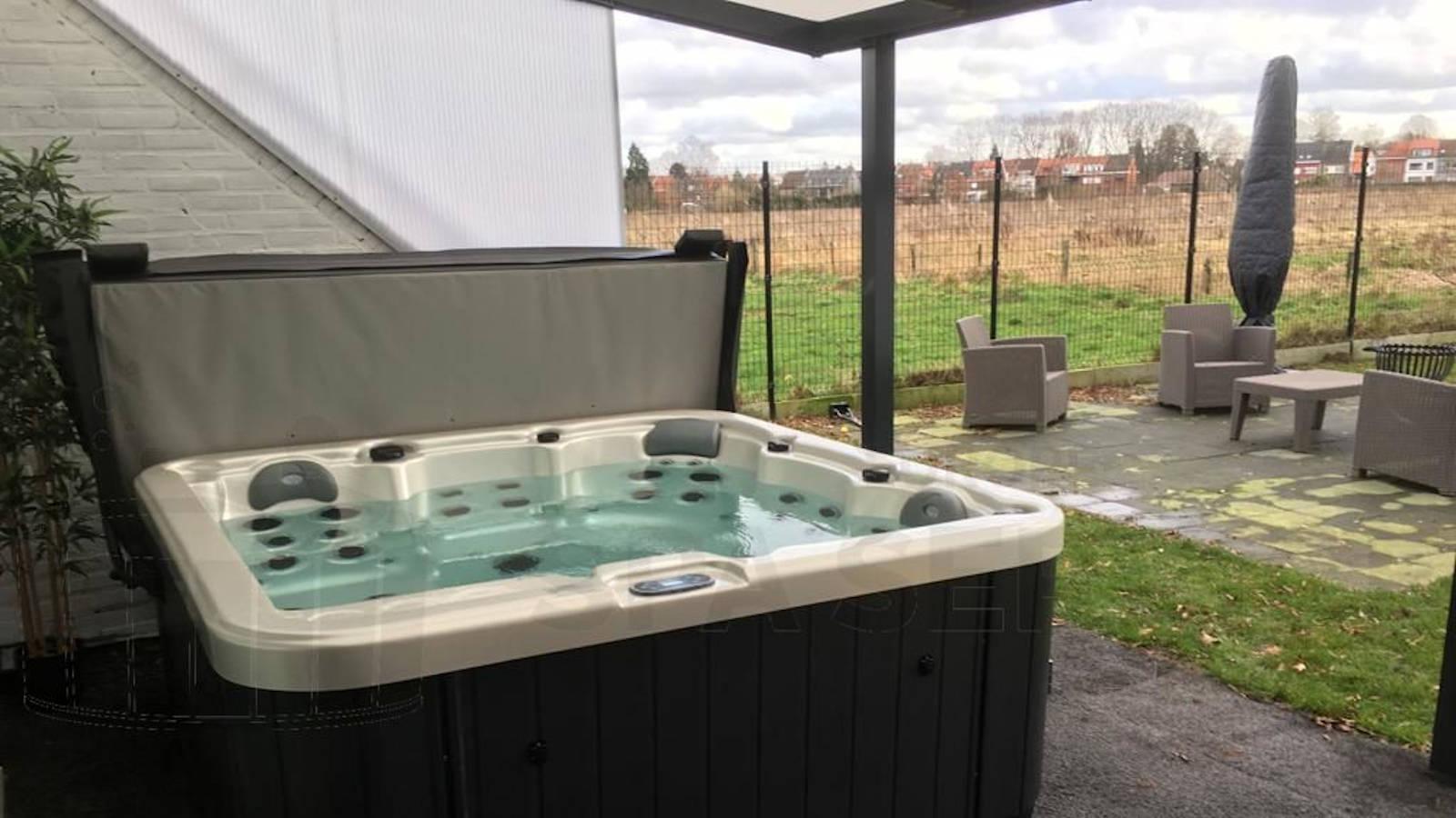 Plaatsing van een spa in Ekeren België