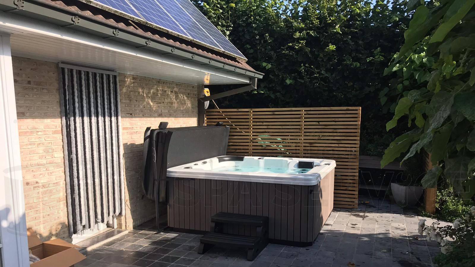Plaatsing van een spa in Zwalm België