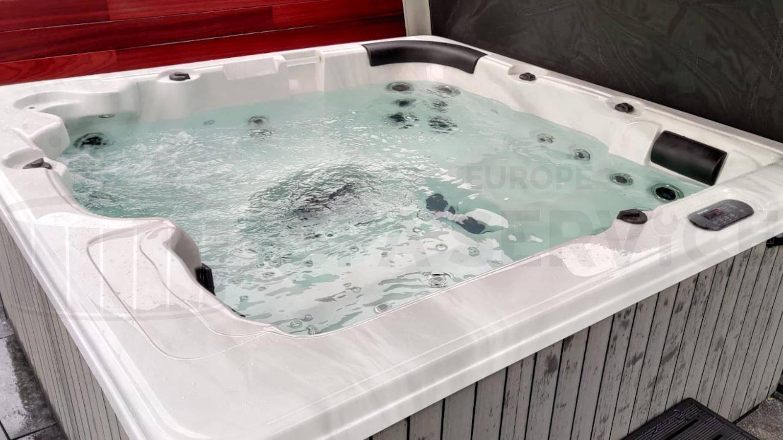 Plaatsing van een spa in Oostakker België