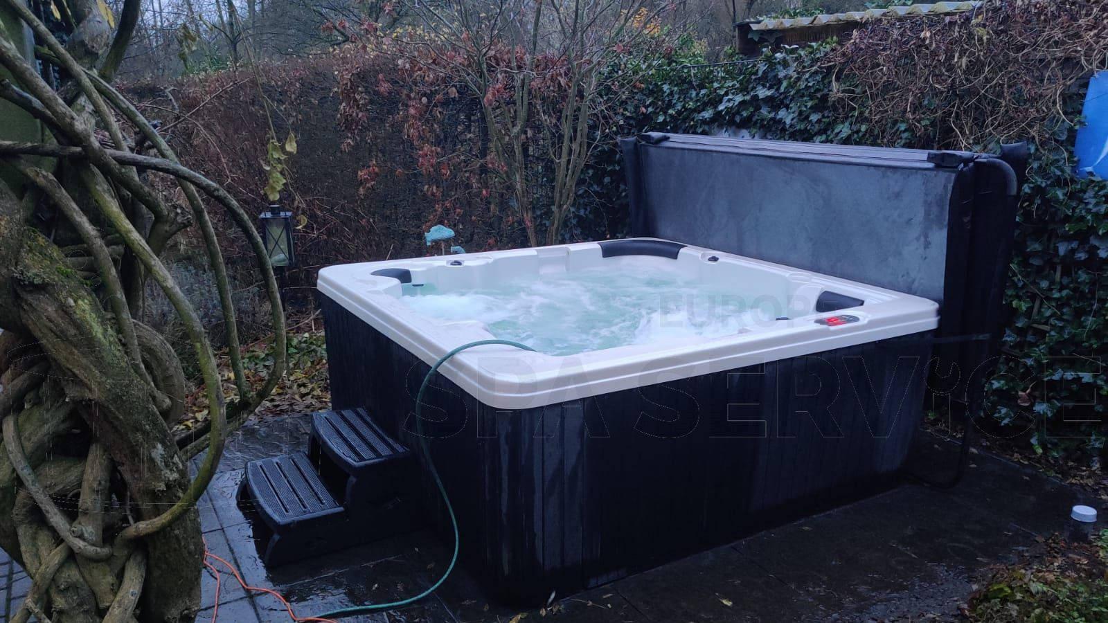 Plaatsing van een spa in Winschoten