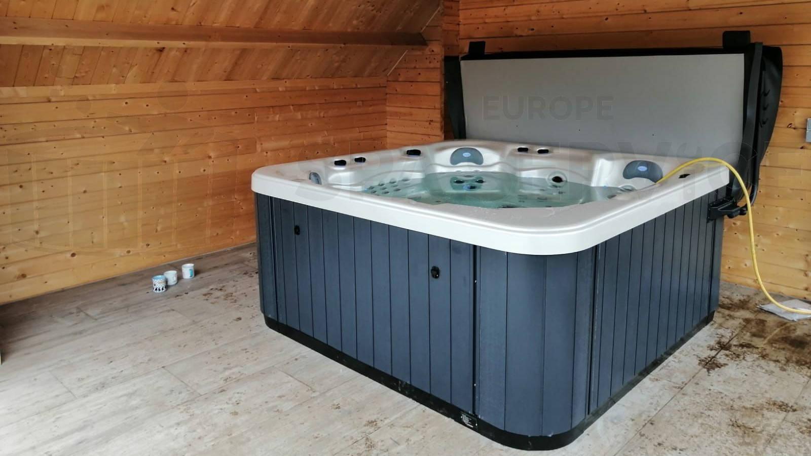 Plaatsing van een spa in Lokeren België