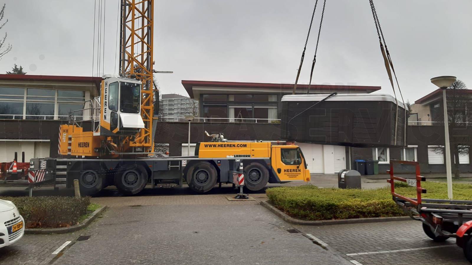 Verhuizing van een spa in Bergen op Zoom