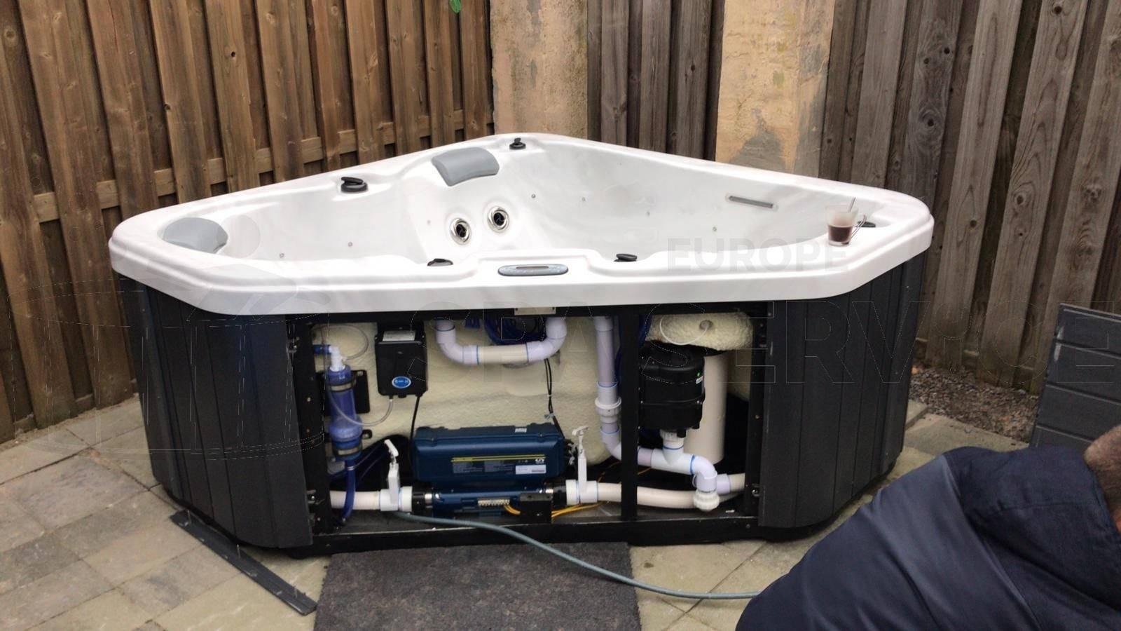 Plaatsing van een Allseas Lover Tub spa in Brielle