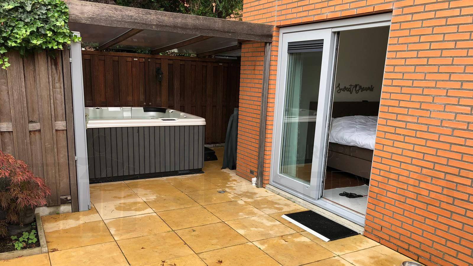 Plaatsing van een spa in Wassenaar