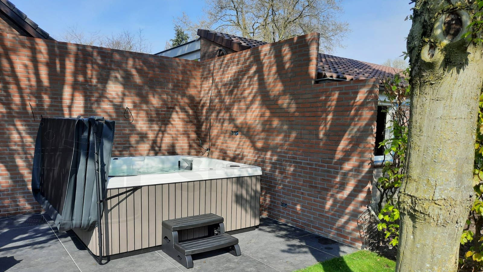 Plaatsing van een spa in Veldhoven