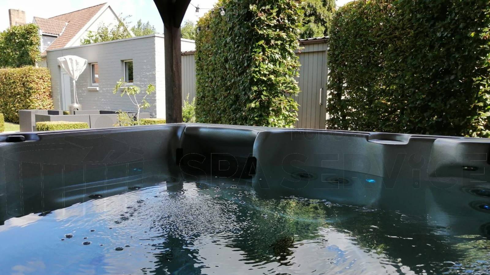 Plaatsing van een spa in Assebroek België