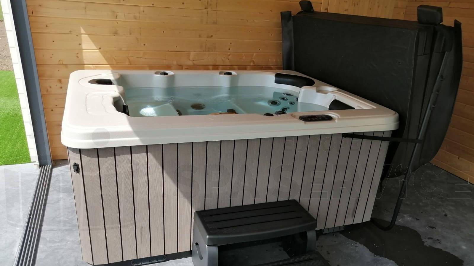 Plaatsing van een spa in Moorsel België