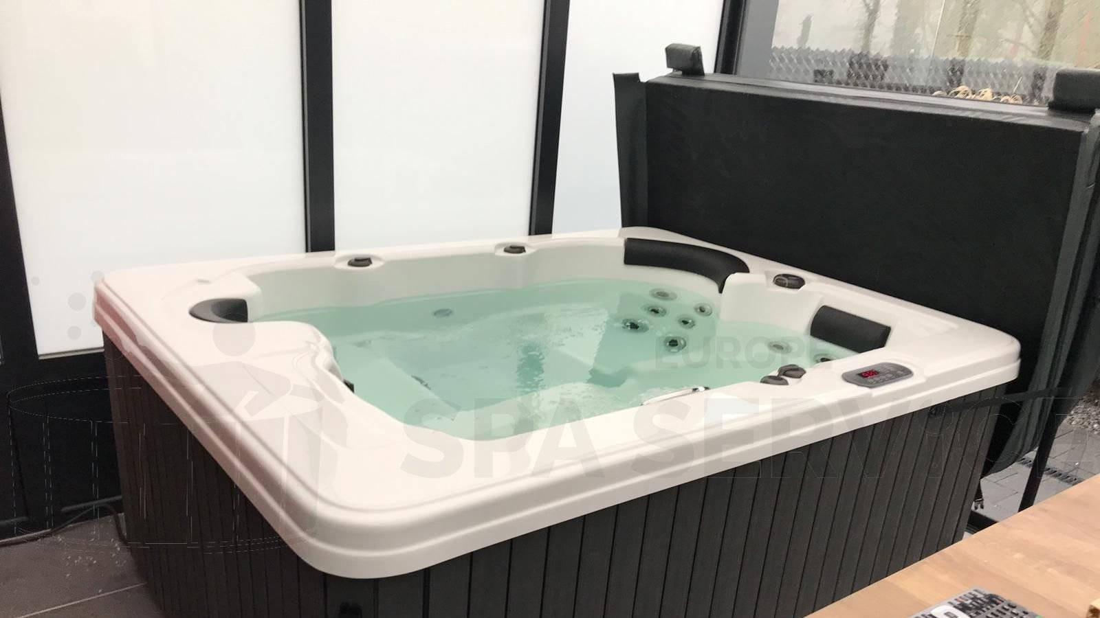 Plaatsing van een spa in Overpelt België