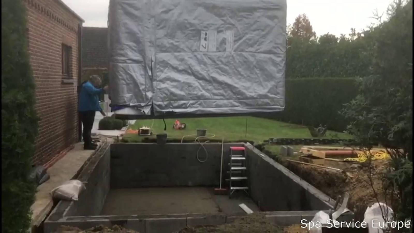 Plaatsing Allseas Exercise pool (swimspa) in Lochristi België
