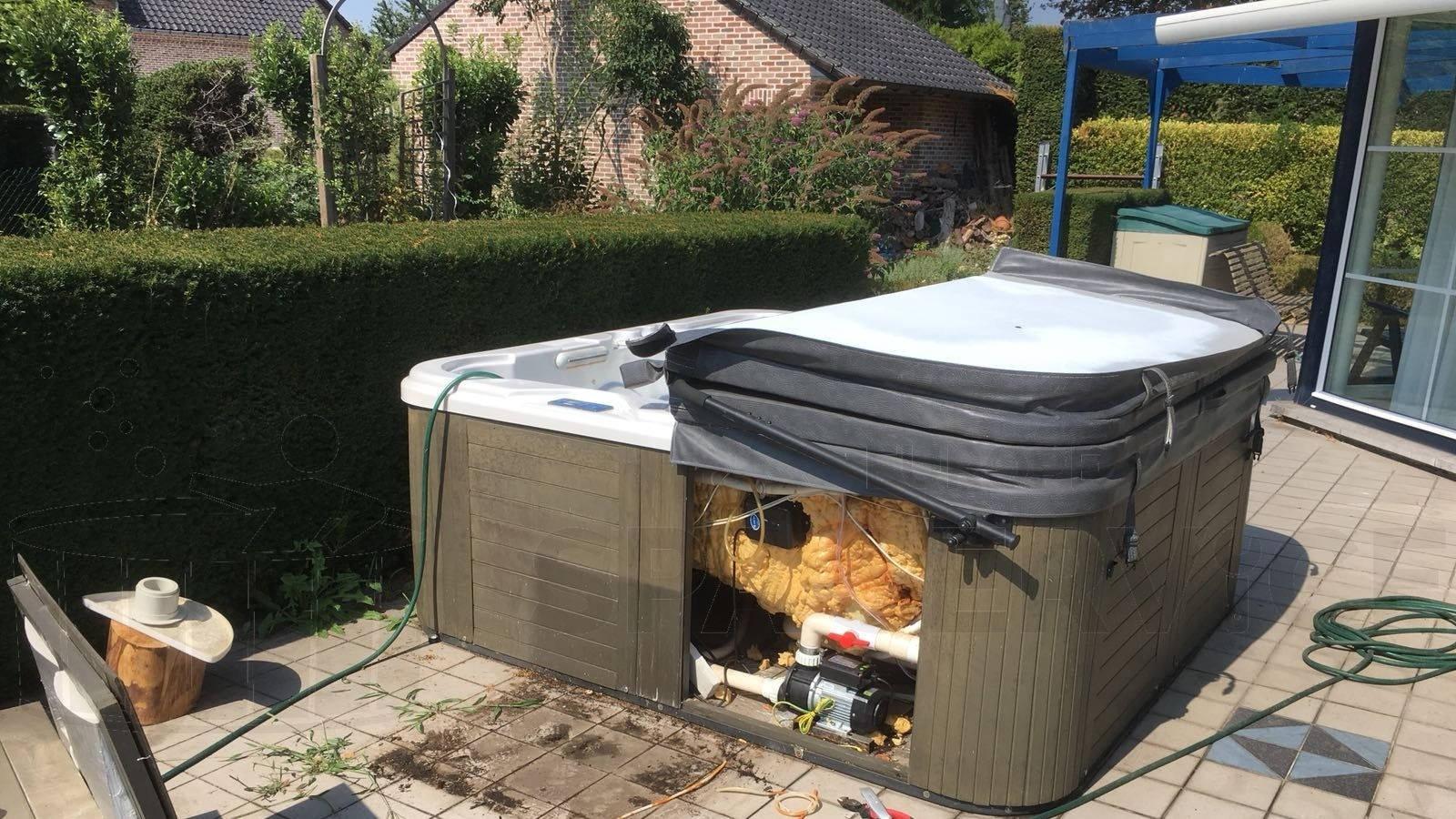Lekkage verholpen aan een spa in Lanaken België