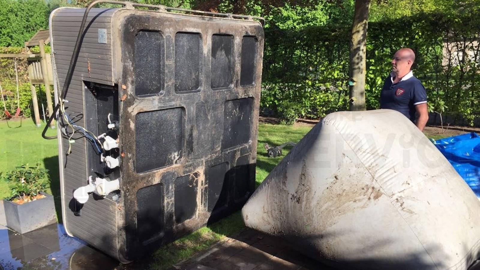Reparatie lekkage aan een Beachcomber spa in Nieuwkuijk