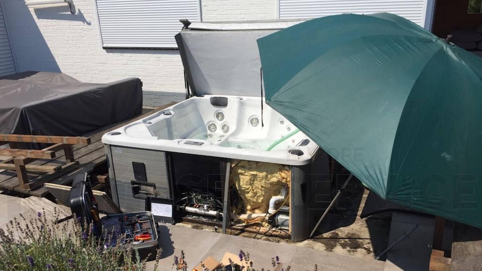 Ozonator vervangen en algehele controle van een Sunspa spa in Eindhoven