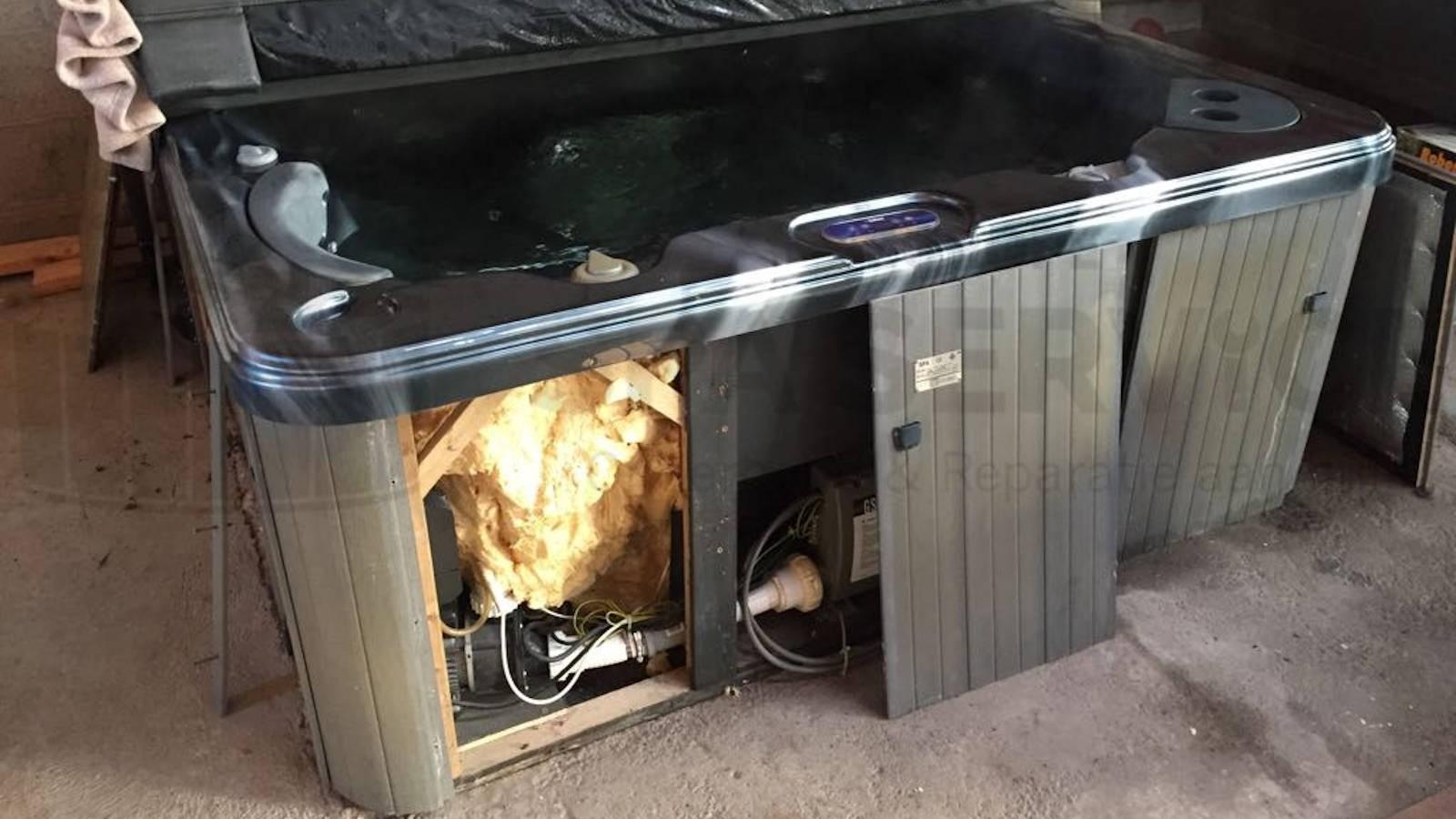Ozonator vervangen van een Sunspa spa in Woerdense Verlaat