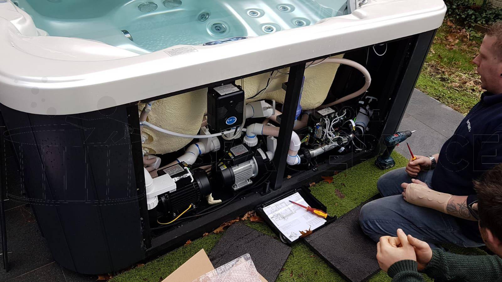 Elektrische storing verholpen aan een Allseas SL-5601 Spa in Tremelo België