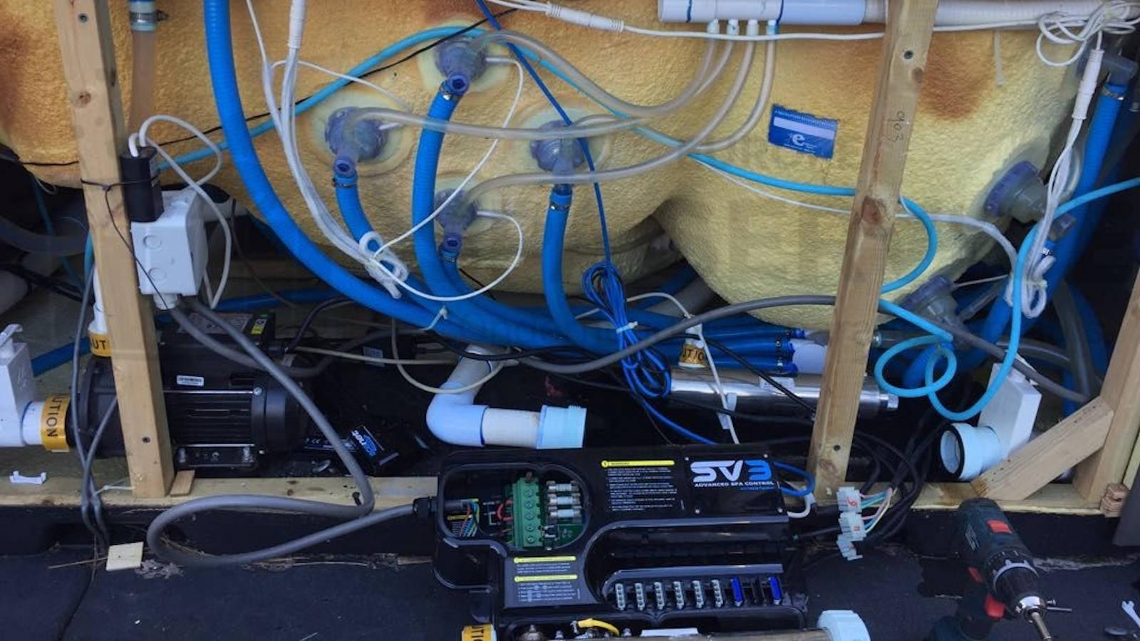 Reparatie SpaNET verwarming van een Evolution spa in Mijdrecht
