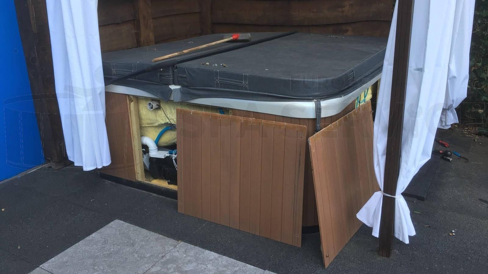 Reparatie circulatiepomp van een spa in Lisserbroek