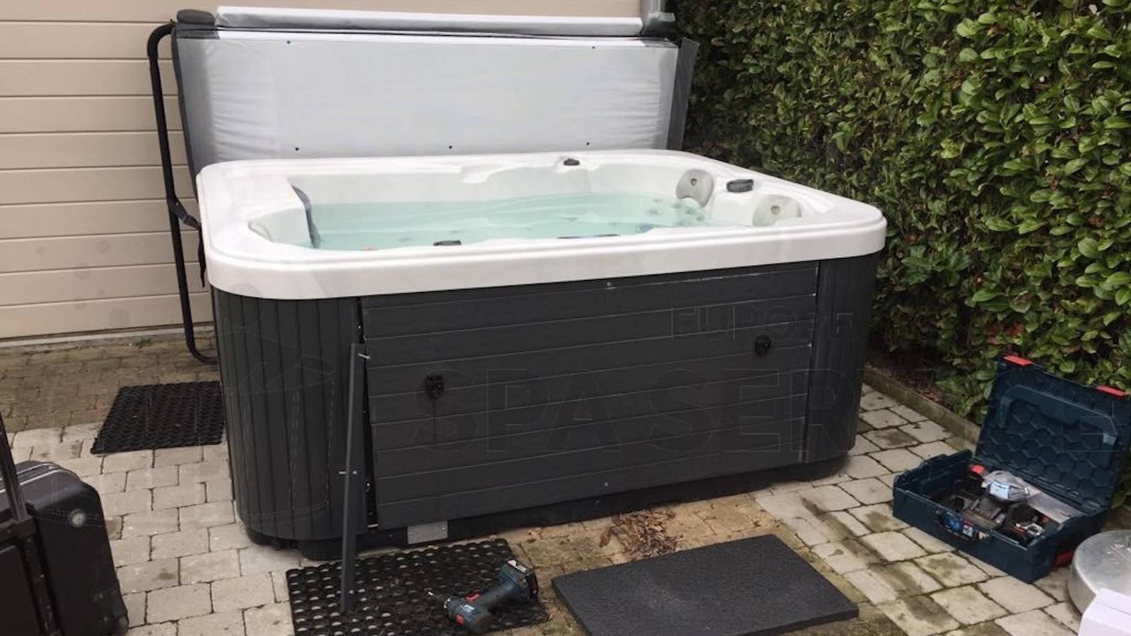 Gratis ozonator vervangen van een Allseas spa in Vrasene België
