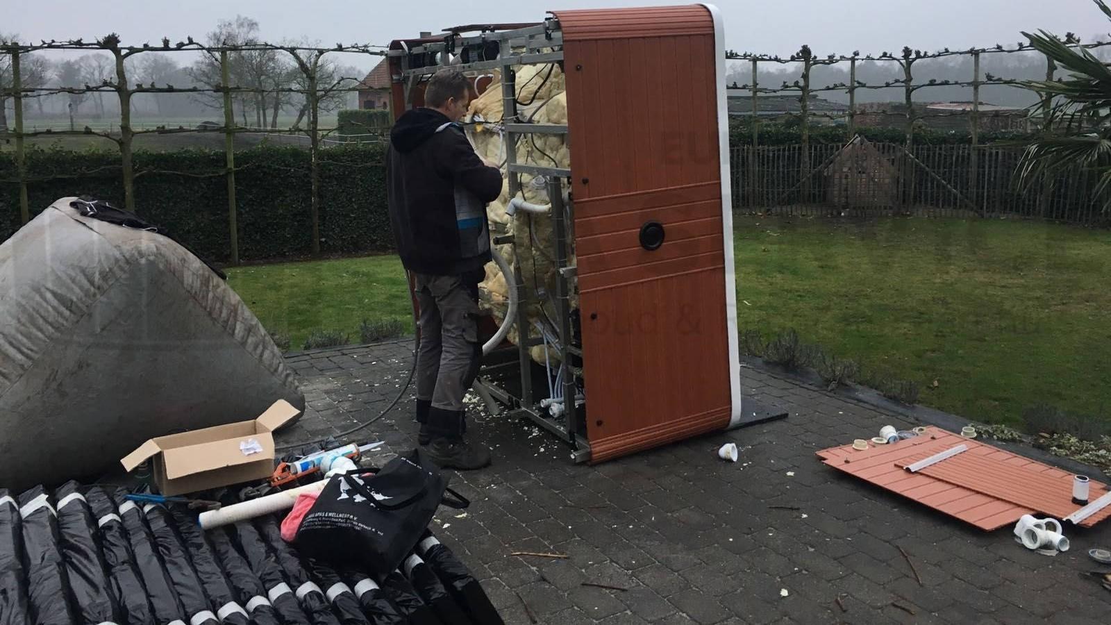 Suctions vervangen van een spa in Beerse België