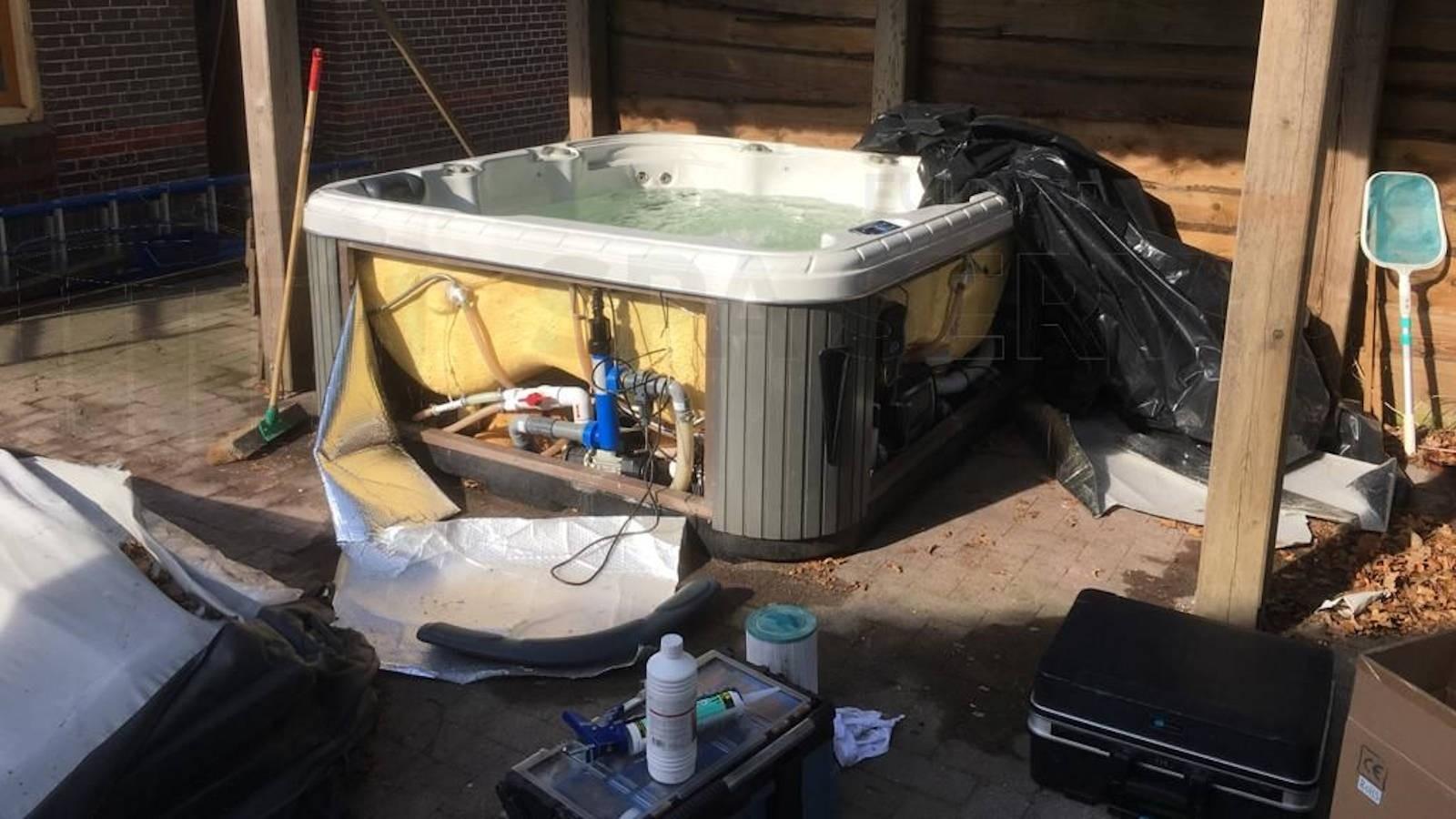 Reparatie defecte blower in een spa in Eén
