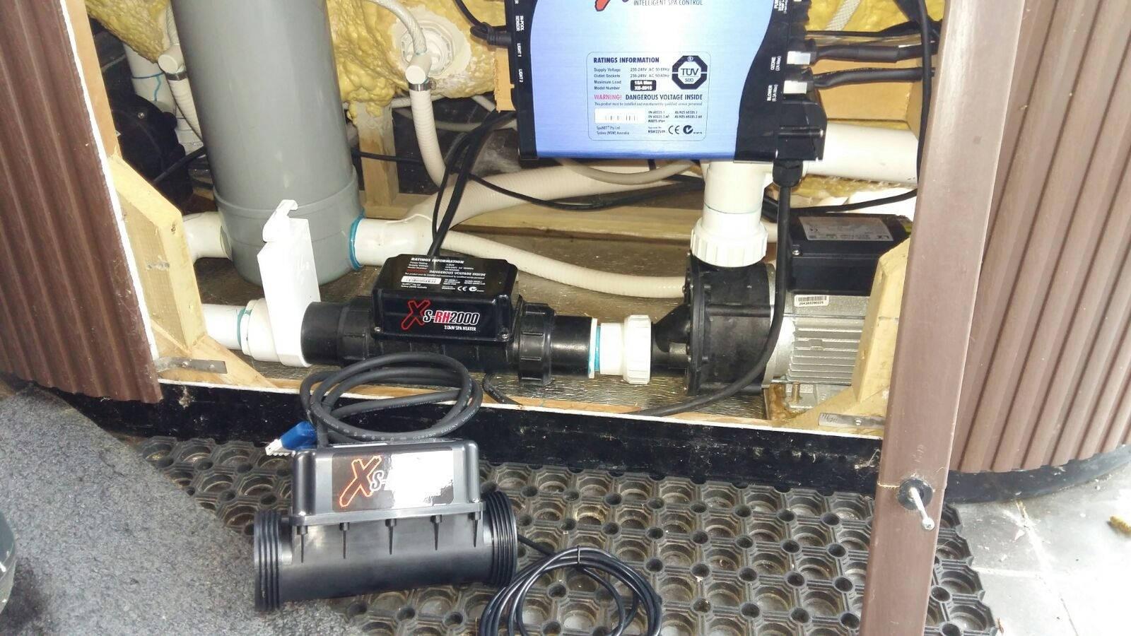 Reparatie verwarming en ozonator vervangen in een spa in Drimmelen