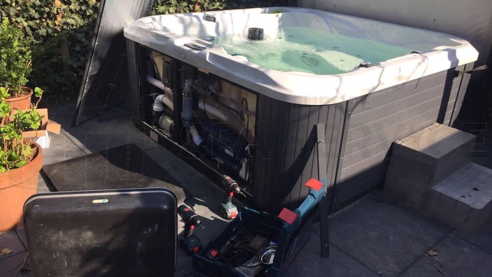 Ozonator vervangen en algehele controle van een Allseas DS100 spa in Kortgene