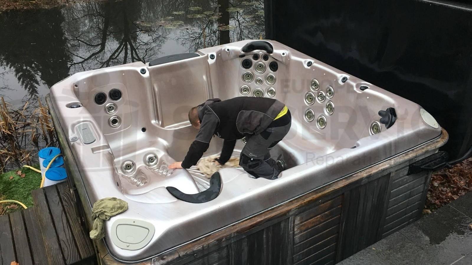 Platinum spa poetsen in Kapellen België voor weer 3 maanden spa plezier