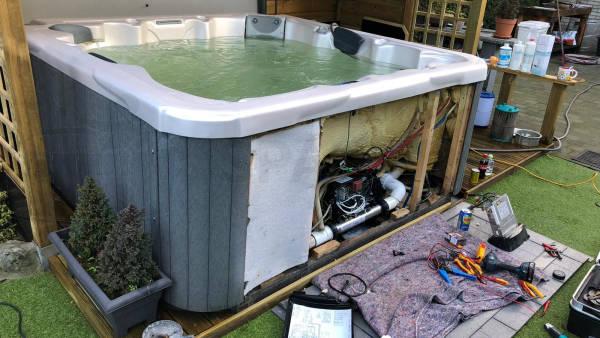 Ombouw van een spa naar Balboa technologie in Kapellen België