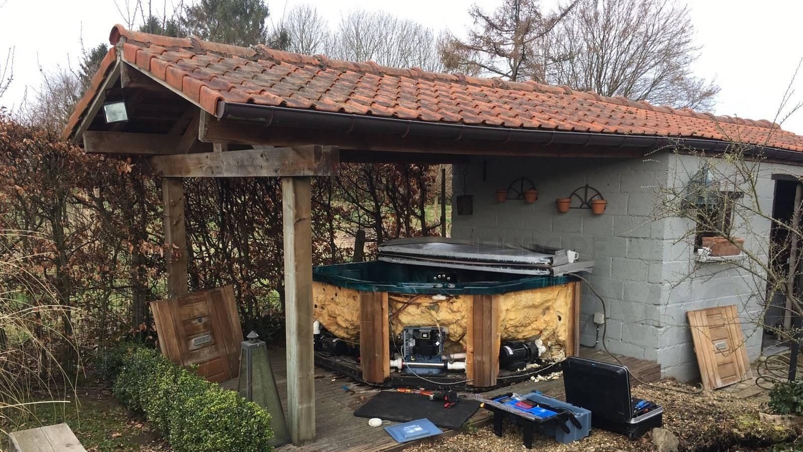 Reparatie sluiting en lekkage van een Sunrise spa in Riemst Vroenhoven België