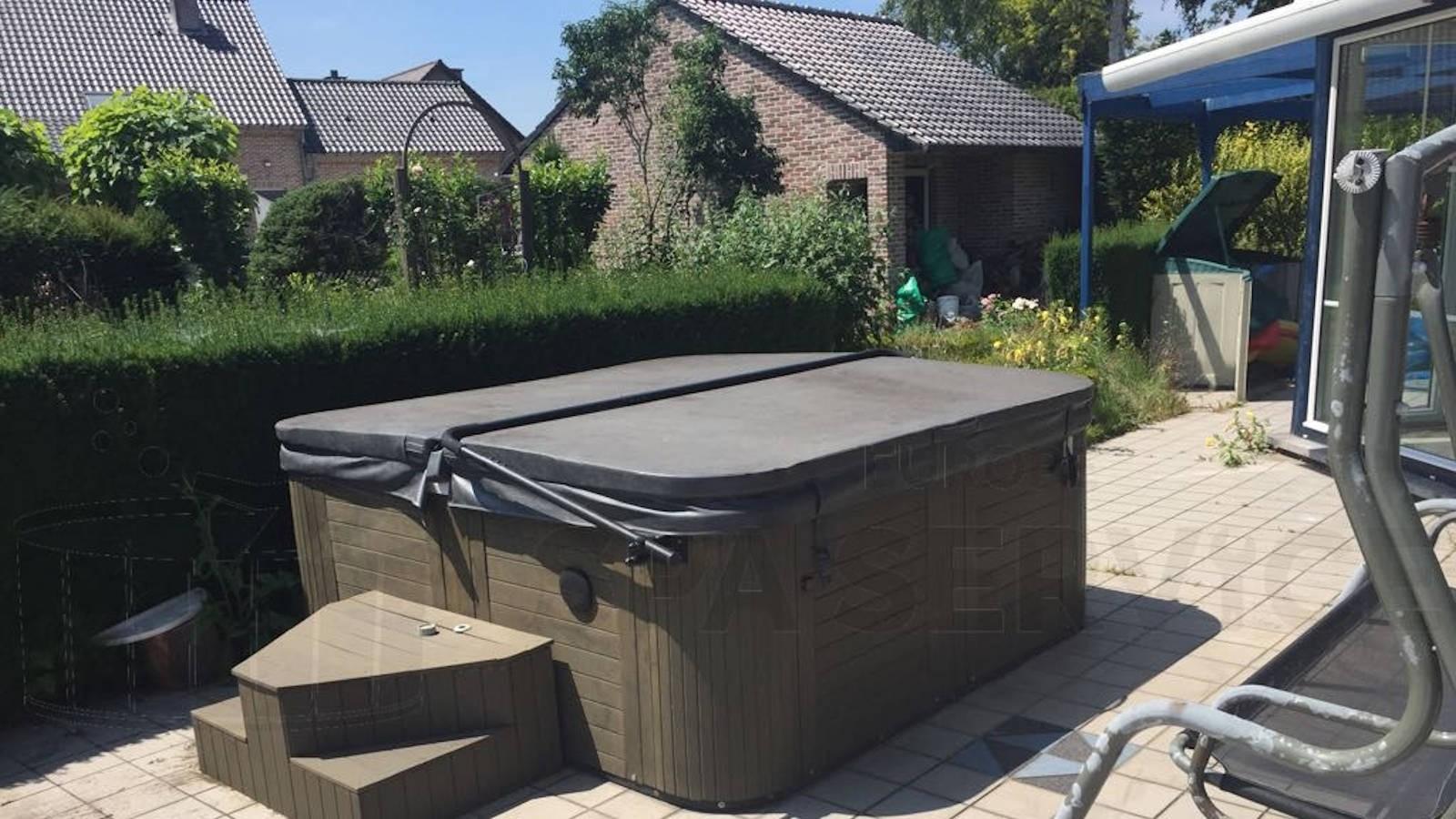 Circulatiepomp vervangen van een Chinese spa in Lanaken België