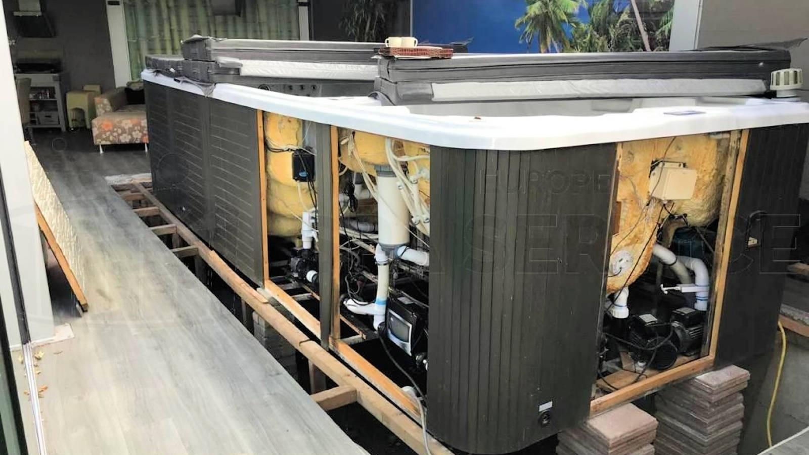 Ombouw duo-zwemspa naar Balboa technologie in Meppel