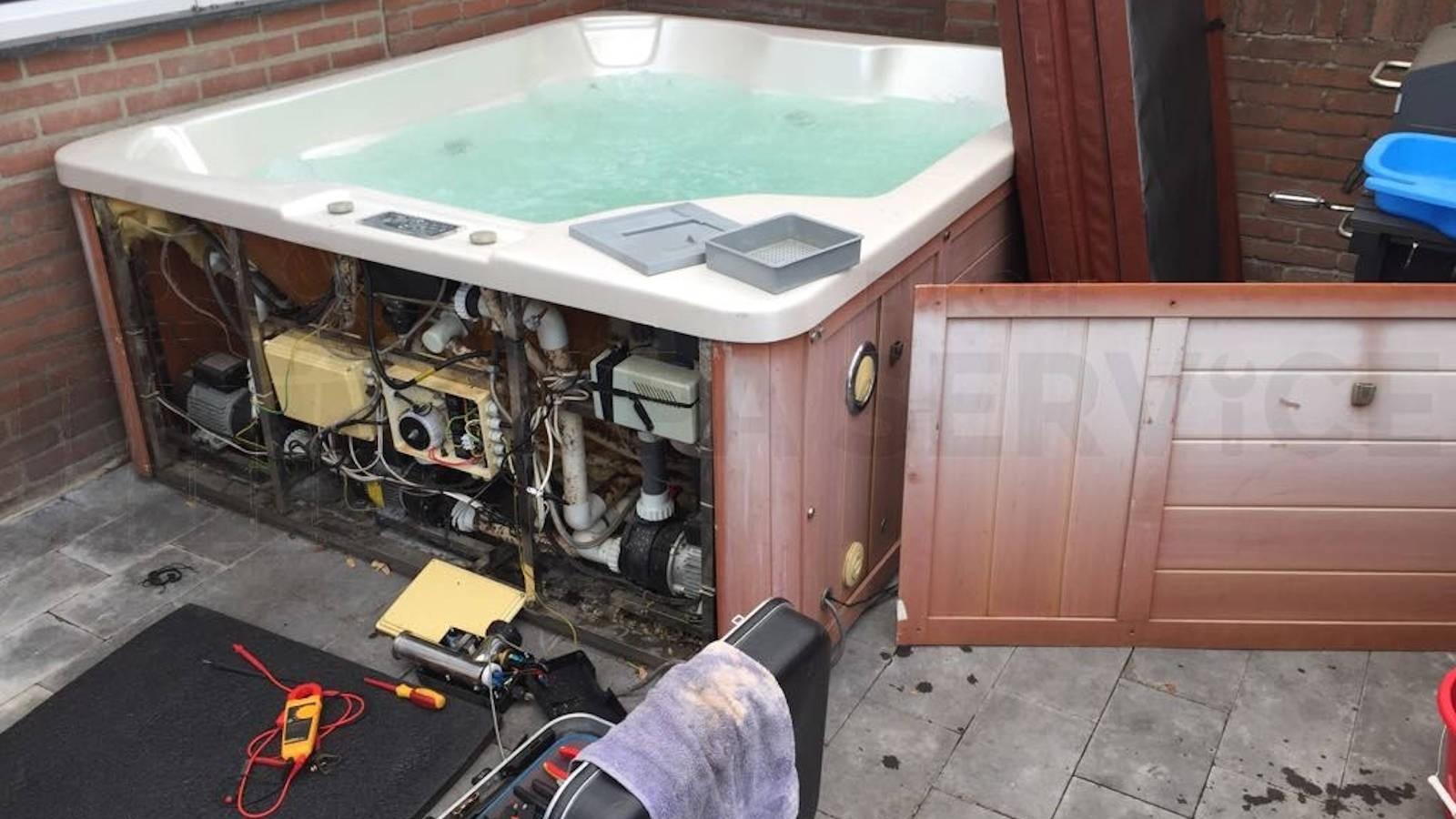 Reparatie verwarming van een Total Relax Pool spa in Brunssum