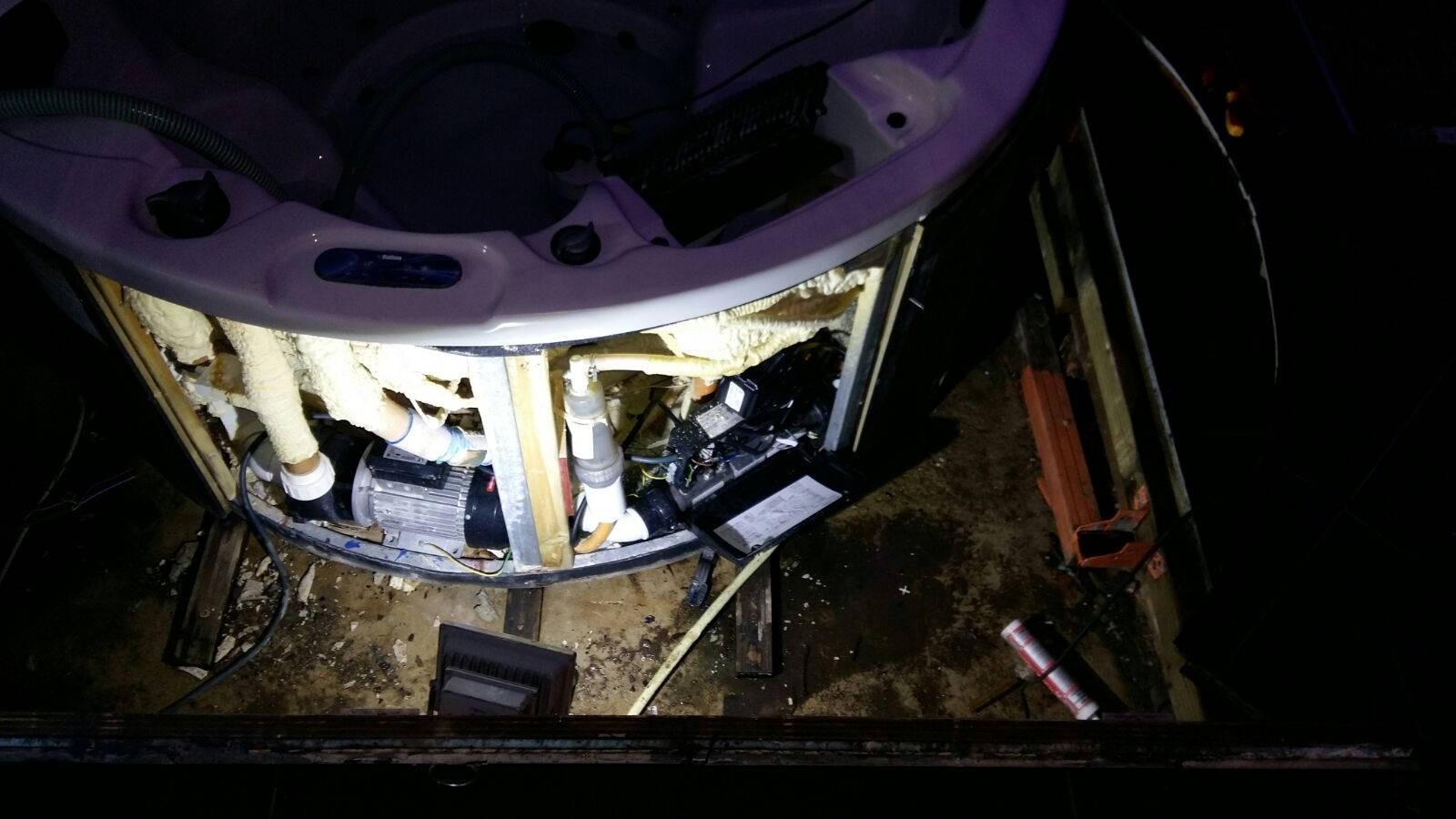 Reparatie verstopte jetpomp in een spa in Rotterdam